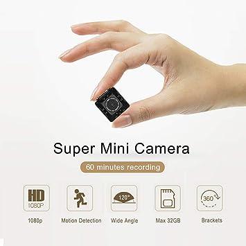 Mini cámara portátil, KAMRE 1080P/720P cámara de Cuerpo pequeño, visión Nocturna,