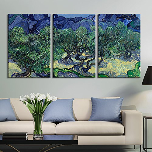 3 Panel The Olive Trees by Vincent Van Gogh Gallery x 3 Panels