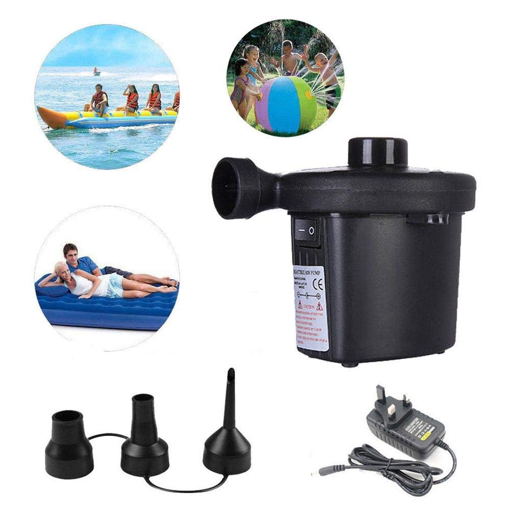 CHRISTY HARRELL Portable Electric Air Pump Camping Pool Paddling Bed Mattress Inflatables Inflator UK Plug