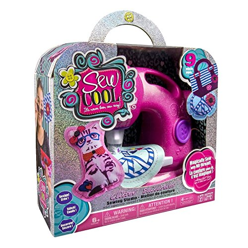 Sew Cool Machine Pink Glitter Sewing Studio 9 Projects Included