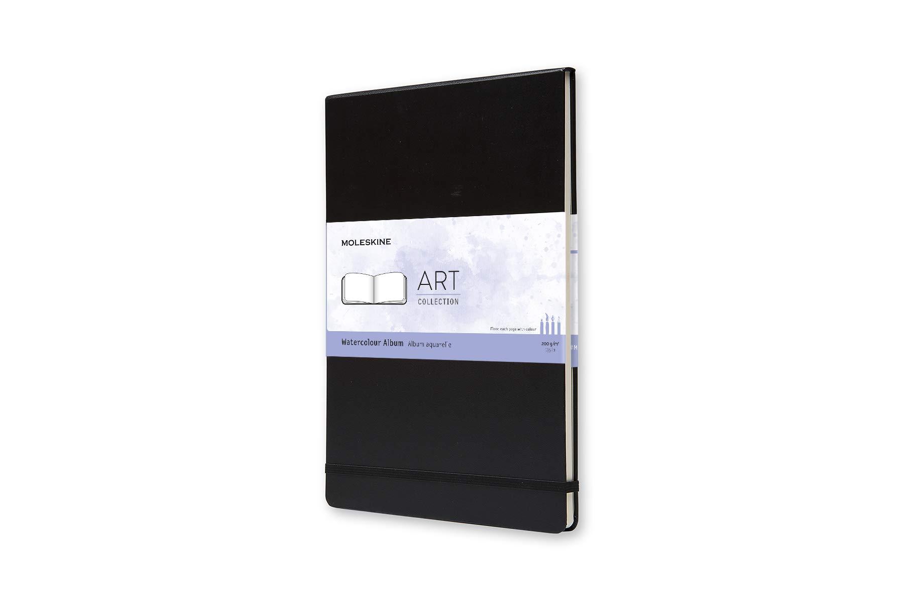 Moleskine Art Watercolor Album, Hard Cover, A4 (8.25'' x 11.75'') Plain/Blank, Black by Moleskine