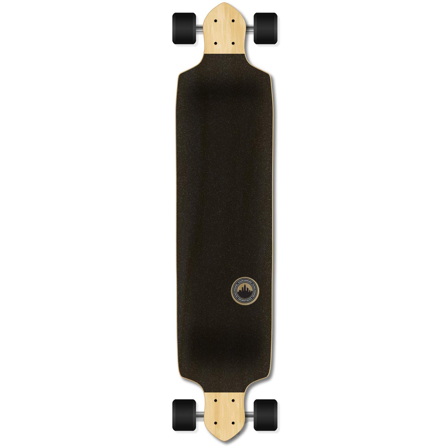 Yocaher Checker Graphic Professional Speed Drop Down Stained Complete Longboard (Checker Blue)