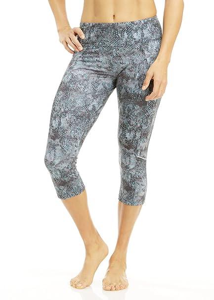 26cd2e0de64d3f Marika Tek Women's Ava Fixate Printed Capri Leggings X-Large Running Dash  Ceramic
