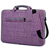 Brinch 15.6-Inch Multi-functional Suit Fabric Portable Laptop Sleeve Case Bag for Laptop, Tablet, Macbook, Notebook - Purple