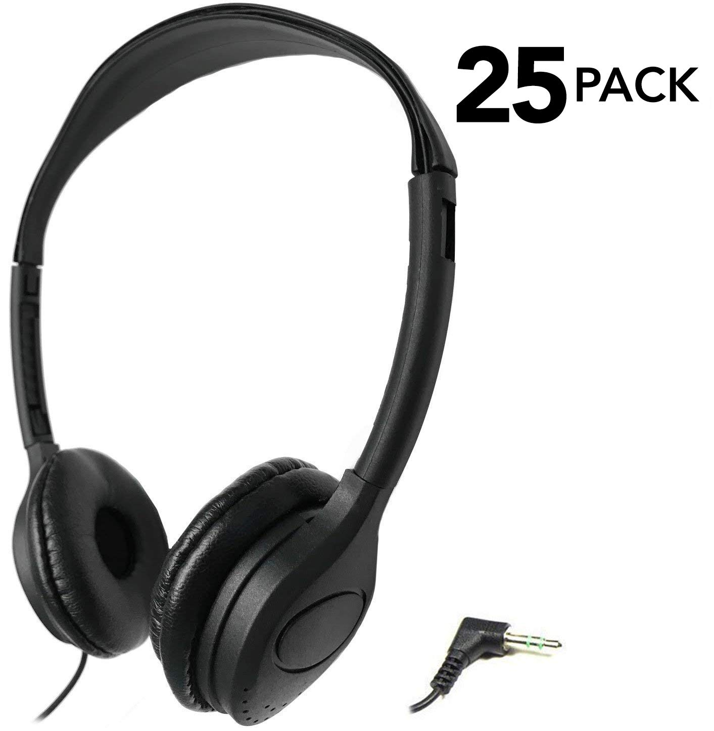 SmithOutlet 25 Pack Over The Head Low Cost Headphones in Bulk by SmithOutlet