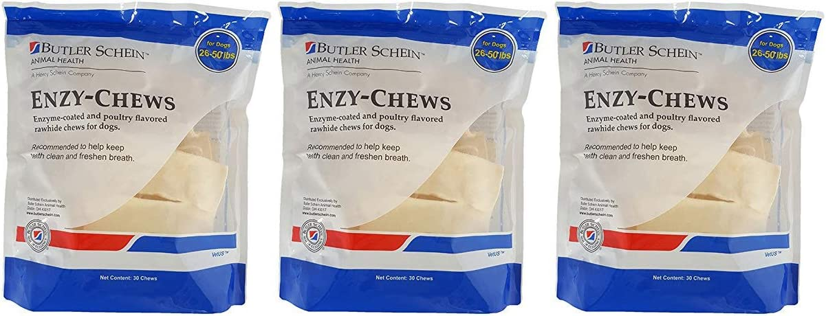 Butler Enzy Oral Care Chews for Dogs 26-50 lbs – 30 Chews