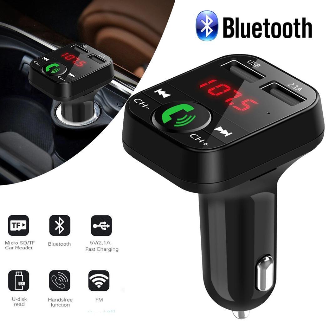 CreazyDog Car Kit Handsfree Wireless Bluetooth FM Transmitter LCD MP3 Player USB Charger by CreazyDog® (Image #3)