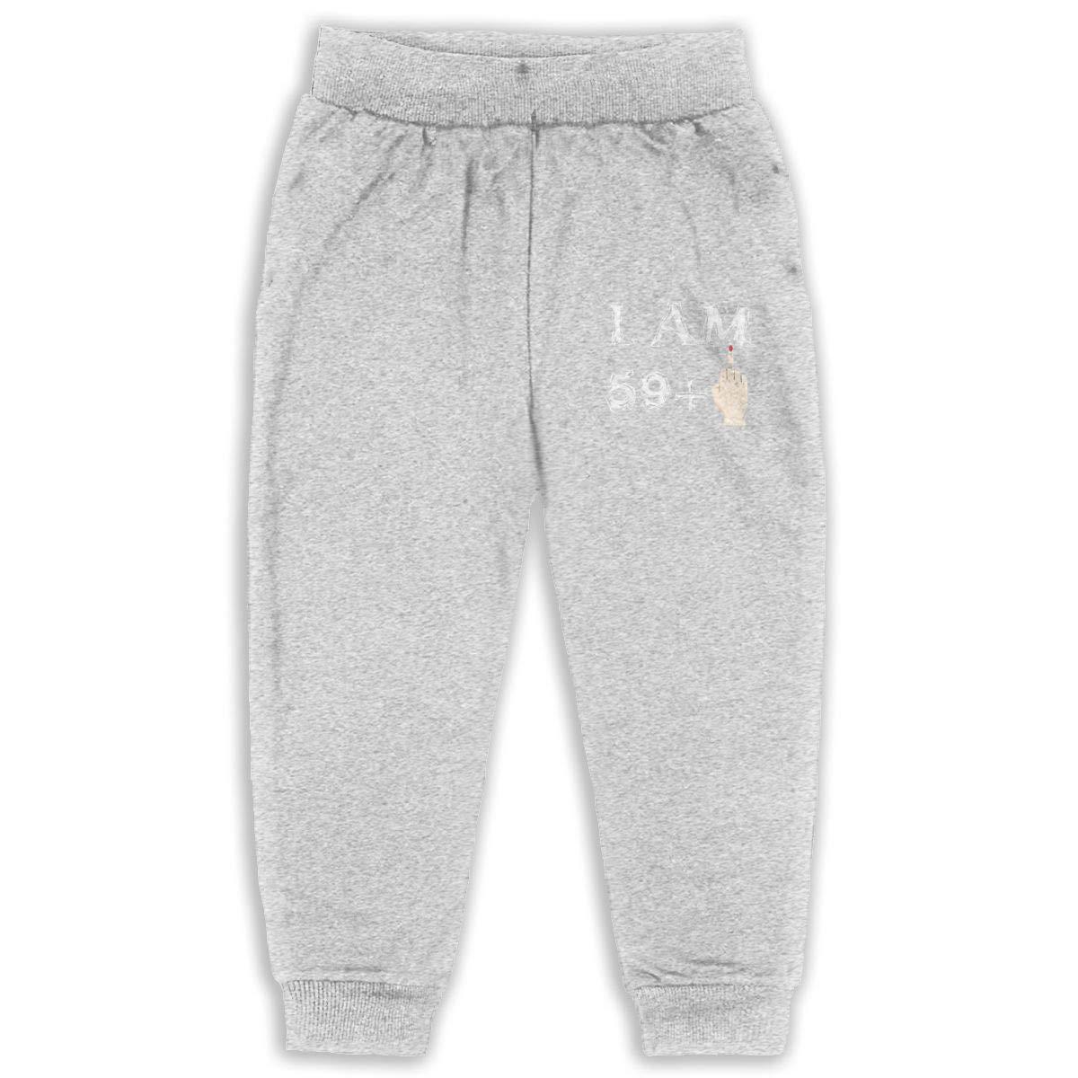 I Am 59 1 = 60 Years Old Birthday Kids Cotton Sweatpants,Jogger Long Jersey Sweatpants