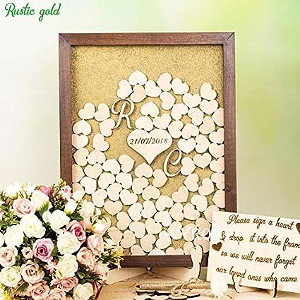 Amazon.com: Guestbook Shadow box sign Wedding initials Drop heart ...