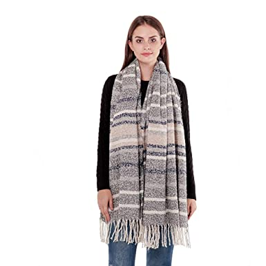 1974b33f44255 Di lusso Plaid Blanket Scarf for Women Winter Warm Thick Heavy Tassel Shawl  Long Tartan Scarves