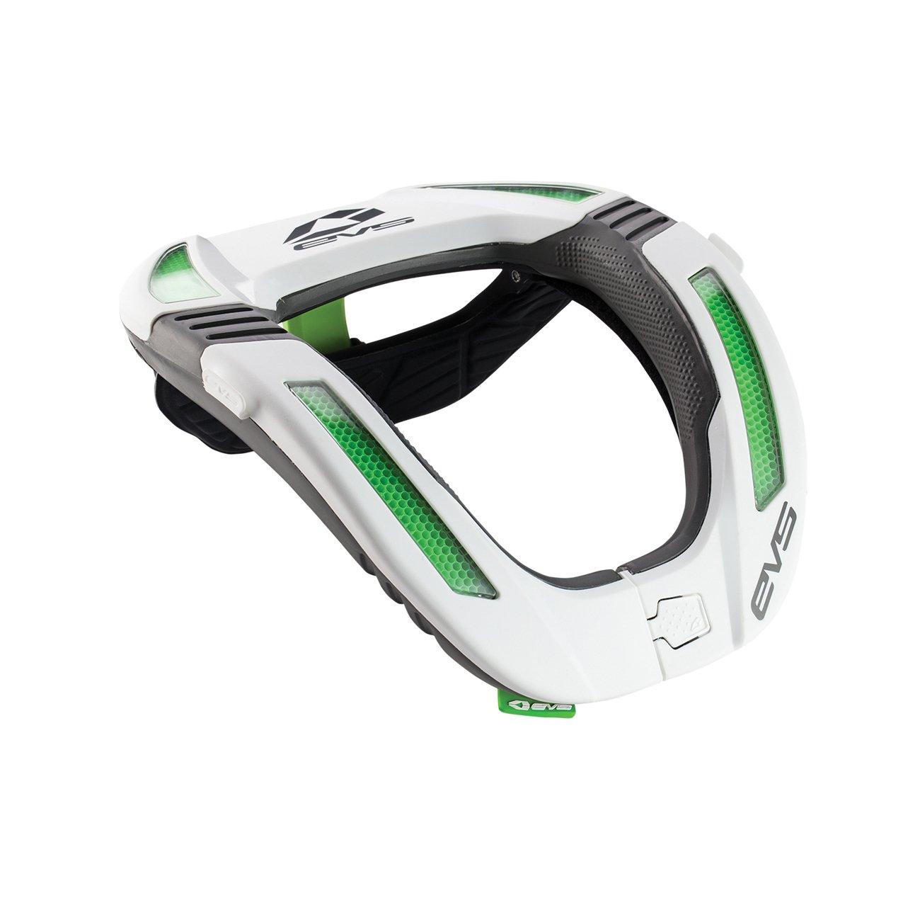 EVS Sports  unisex-adult Koroyd Race Collar (White, Adult), 1 Pack