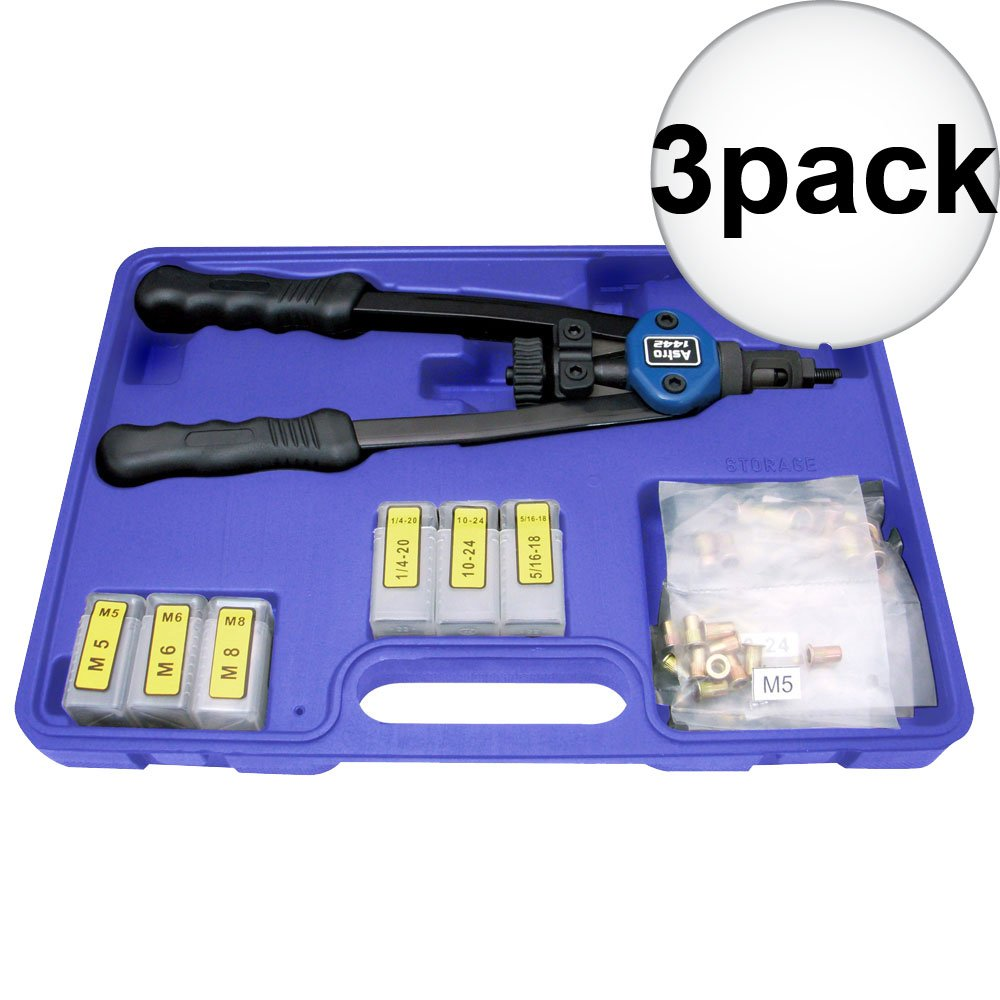 Astro Pneumatic 1442 Nut/Thread Hand Rivet Kit 3-Pack