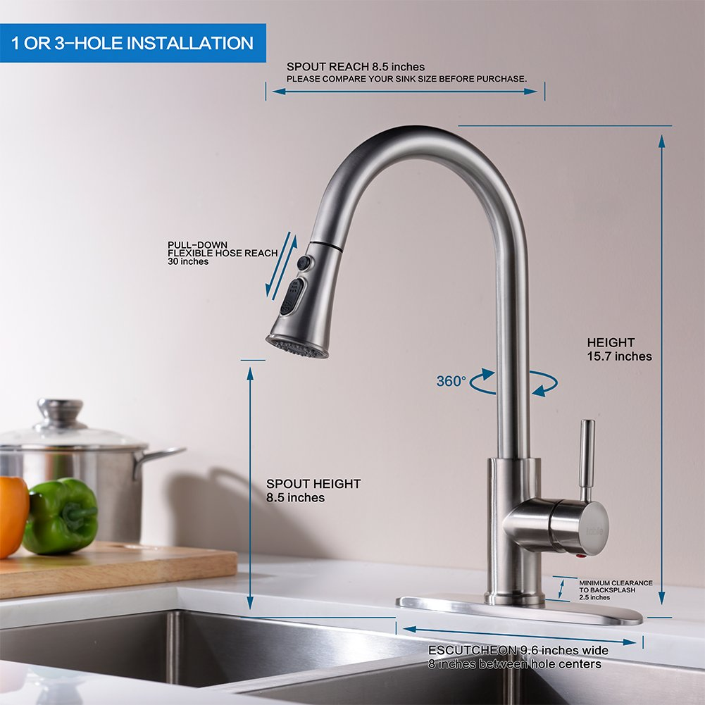 100 Clearance Kitchen Faucet Shop Kohler Elliston Vibrant Stainless 1 Handle Pull Out