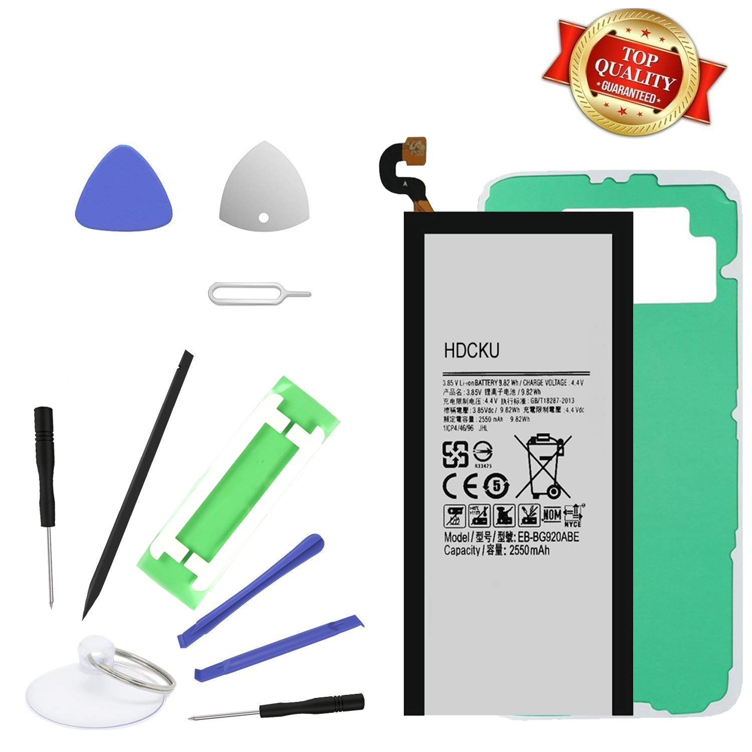 Battery for Samsung Galaxy S6 All G920 Model with Replacement Tools and Instruction 12 Month Warranty by HDCKU