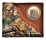 Custom Badger Praying Cowboy Church Realtree AP Camo Wallet Bi-fold