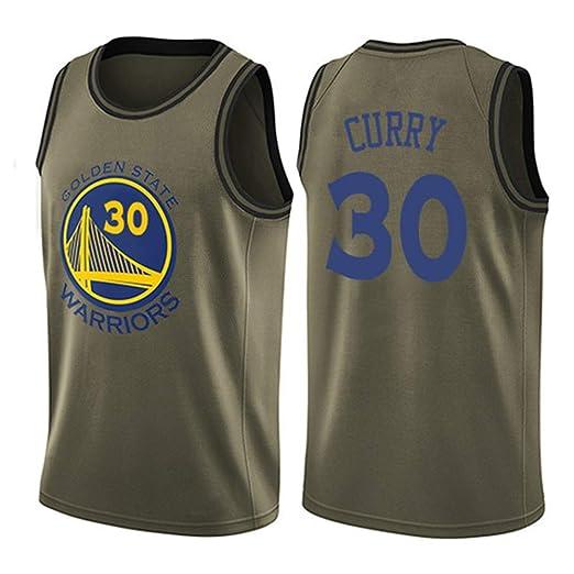 BALL-WHJ Camiseta De Hombre - NBA Warriors 30 Curry Bordado ...
