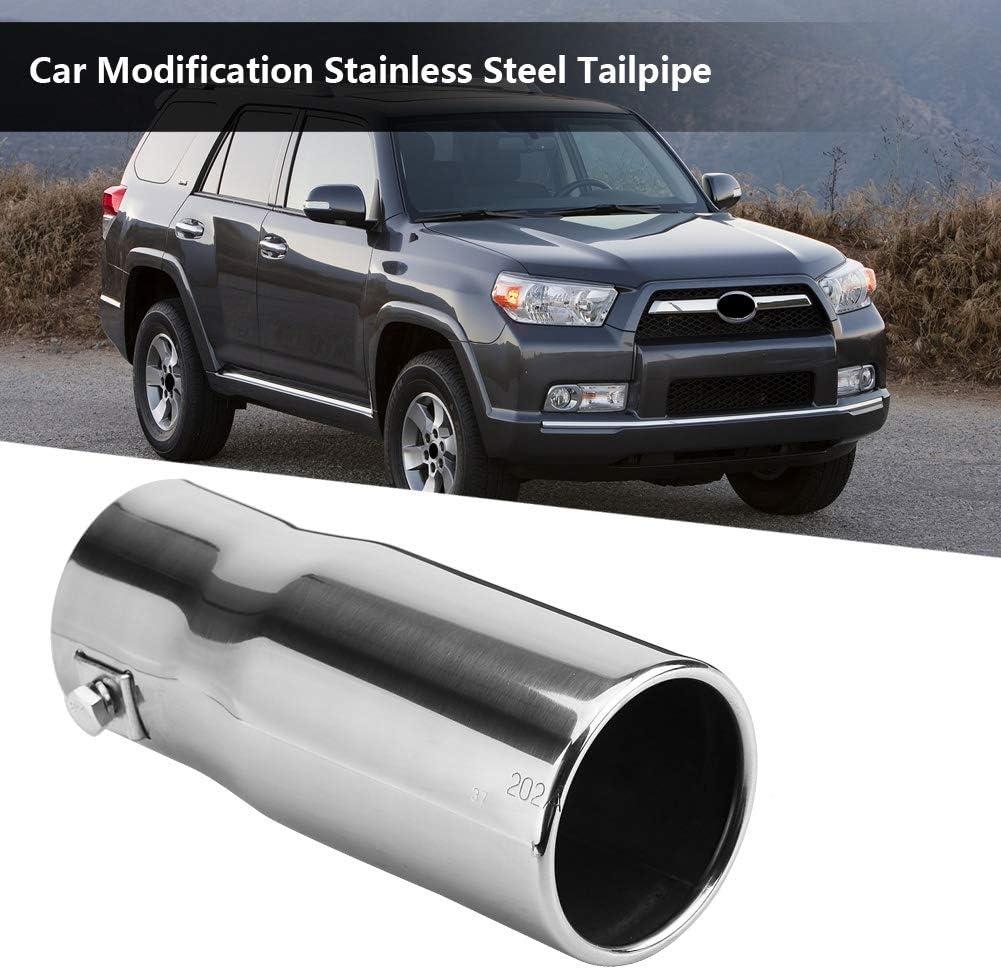 Inclinado KIMISS universal Tubo de escape de cola para autom/óvil 30-51 mm Tubo de cola del coche Acero inoxidable