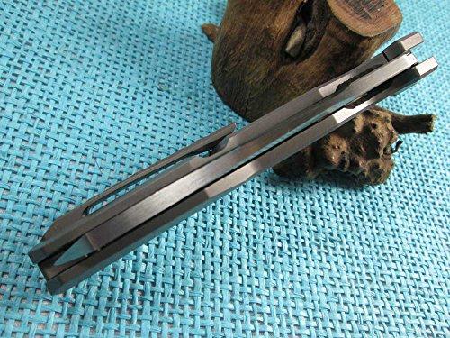 Twosun EDC No Screw Tenon-And-Mortise Work Titanium M390 Folding Knife TS88 by TwoSun (Image #3)