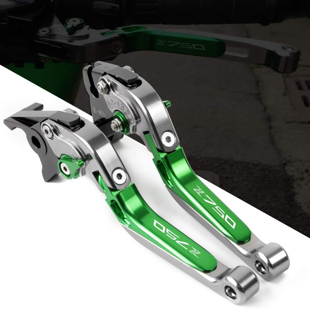 Palanca de freno y embrague para motocicleta CNC, juego de palancas de aluminio, palanca de embrague de freno ajustable, plegable, extensible para Kawasaki ...