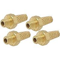 sourcingmap/® 1//4Filettatura maschio BSP in ottone sinterizzato pneumatico silenziatore di scarico marmitta 10Pz