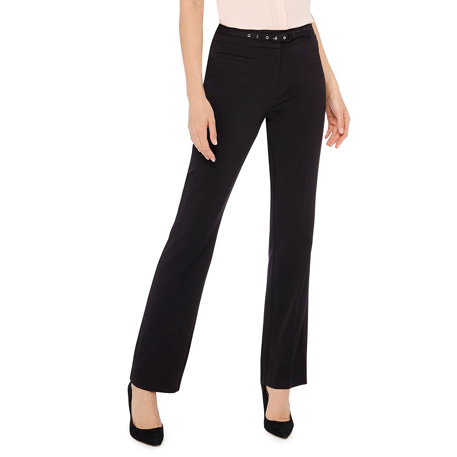 Debenhams The Collection Womens Black Straight Leg Suit Trousers