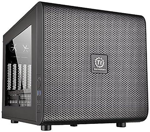 Thermaltake Core V21 SPCC Micro ATX Cube Computer Chassis CA-1D5-00S1WN-00 (Thermaltake Core V21)