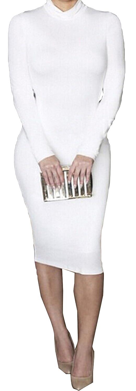 DANJIESHI Women's Fashion Slim Long-sleeved Nightclubs Dresses