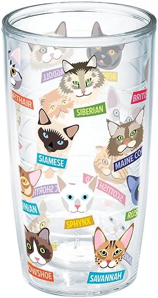 cbdbd80e057 Amazon.com | Tervis Flt Art Cat Breeds Wrap 16oz Tumbler with No Lid ...