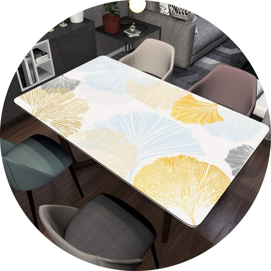ポリ塩化ビニールの反熱いテーブルクロス、ダイニングテーブル1.5mmのための現代長方形の防水コーヒーテーブルの保護装置 CFJRB (Color : PVC, Size : 90X160cm) 90X160cm PVC B07SQZ1BXK