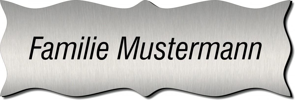 T/ürschild Namensschild 120x50 mm Klingelschild Typ:Messing 401-06 Briefkastenschild Pokalschild