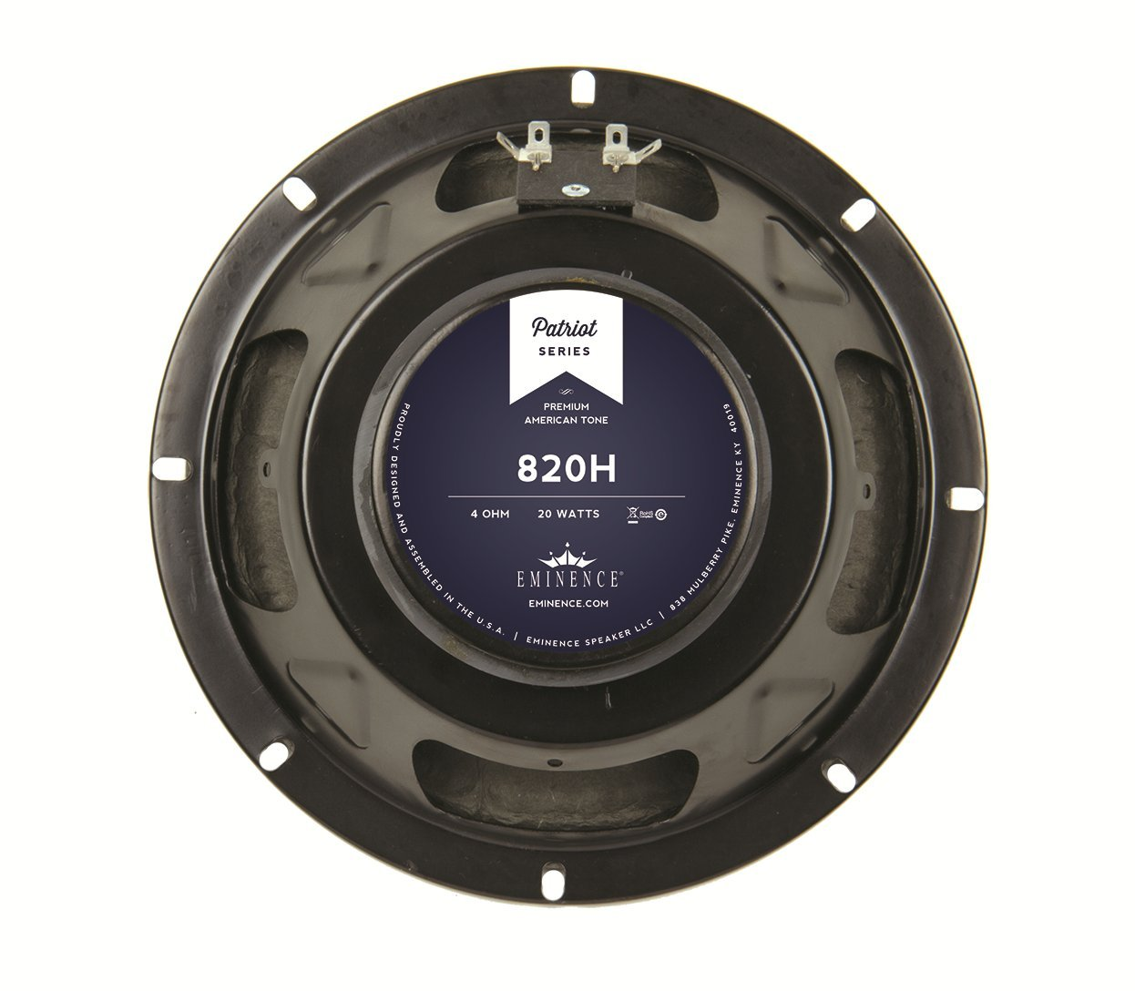 Eminence Patriot 820H 8'' Guitar Speaker with Hemp Cone, 20 Watts at 4 Ohms by Eminence