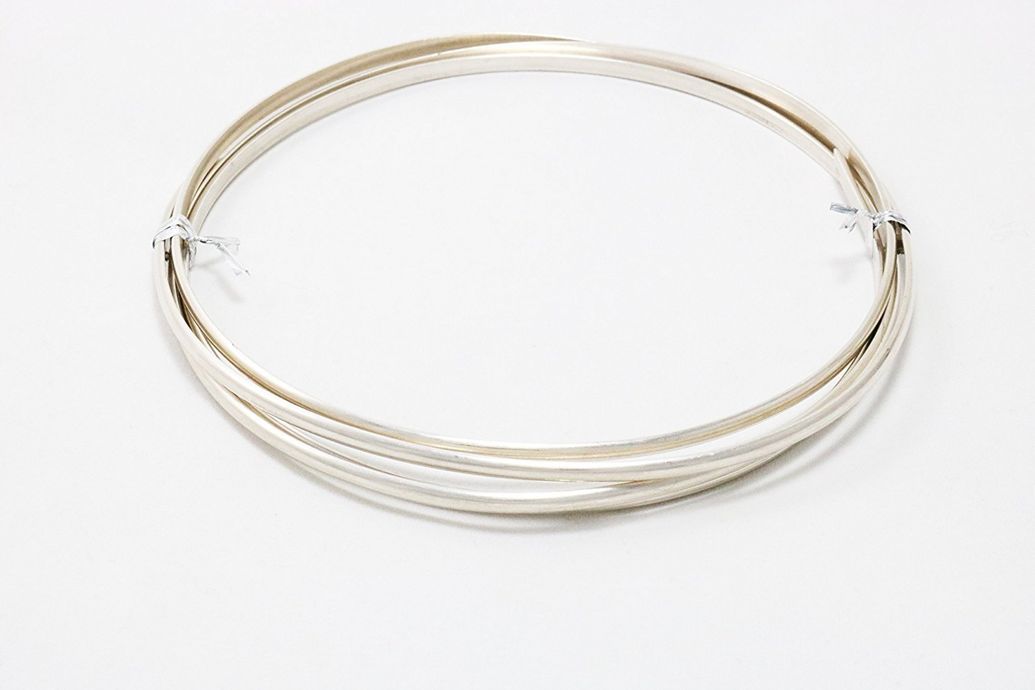 24 Gauge, 1/10 Sterling Silver Filled Wire, Half Round, Dead Soft - 5FT from Craft Wire 8932704