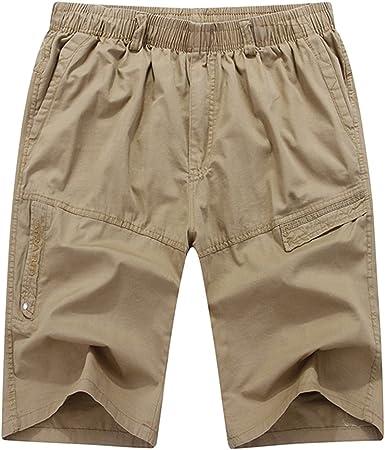 Sk Studio Pantalones Cortos Hombre Trabajo Bermudas Cargo Shorts Deporte Tallas Grandes Vestir Short Con Bolsillos Verano Amazon Es Ropa Y Accesorios
