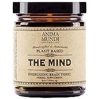 Anima Mundi The Mind Energizing Brain Tonic Powder - Organic Adaptogenic Supplement, Mood & Memory Support Herbs Including Lion's Mane Mushroom, Ginkgo & Gotu Kola (6oz)