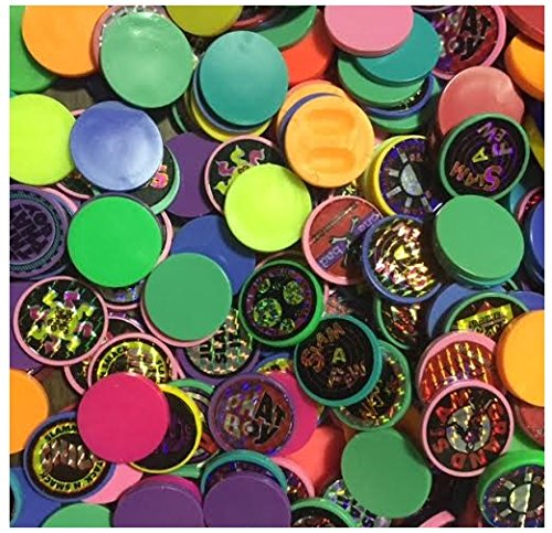 Set of 10 Slammers and 40 Milkcap Pogs for Pog Game Assorted Colors