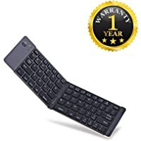 Qualtos F66 Portable Mini Bluetooth Wireless Foldable Keyboard Compatible with All Smartphones