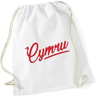 HippoWarehouse Cymru Wales Drawstring Cotton School Gym Kid Bag Sack 37cm x 46cm, 12 litres