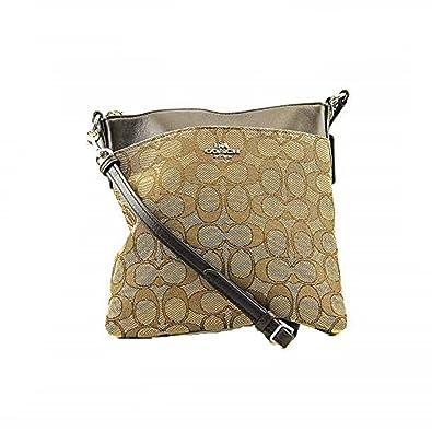 d38b769a96 COACH Women s Signature North South Swingpack Light Khaki Brown Cross Body   Handbags  Amazon.com