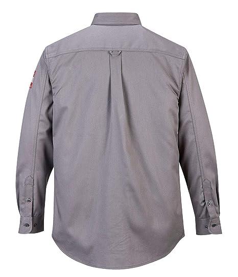color negro Portwest fr89grrxxxl Bizflame camiseta, Regular, tama/ño: 3/x l gris
