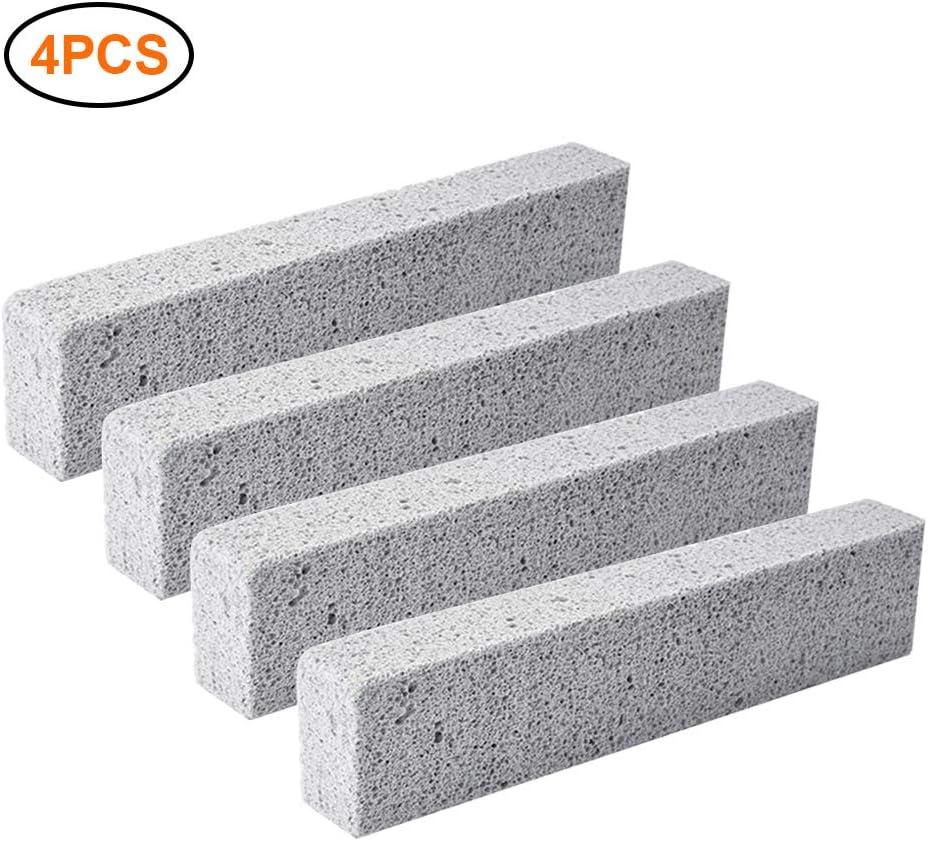 Calayu - 4 bloques de limpieza para barbacoa, piedra pómez para limpiar las manchas