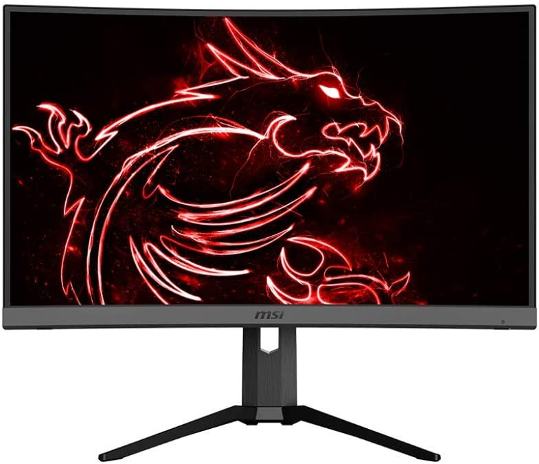 "MSI 27"" QHD (2560 x 1440) Non-glare HDR Ready 165Hz 1500R Curvature 1ms 16:9 HDMI/DP/USB AMD FreeSync Height Tilt Adjustment Curved Gaming Monitor (OPTIX MAG272CQR),Black"