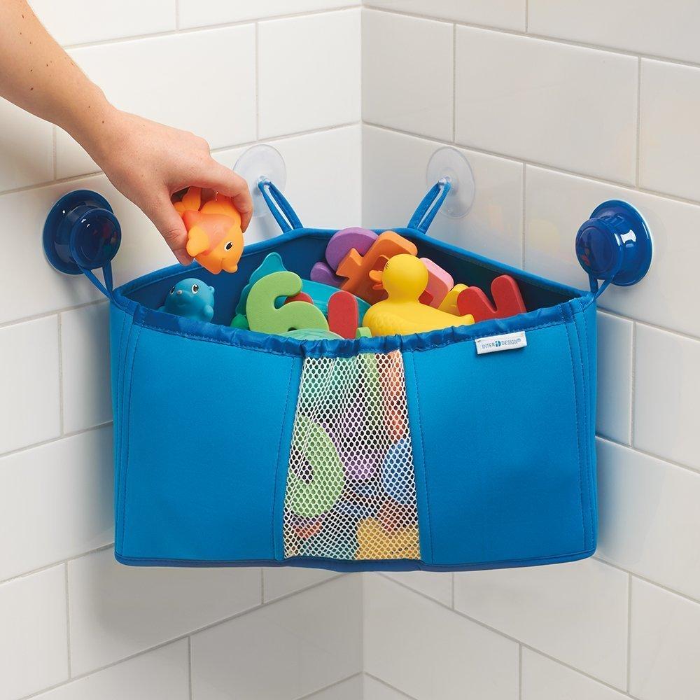 Amazon.com: InterDesign Kids Neoprene Corner Bathroom Shower Caddy ...