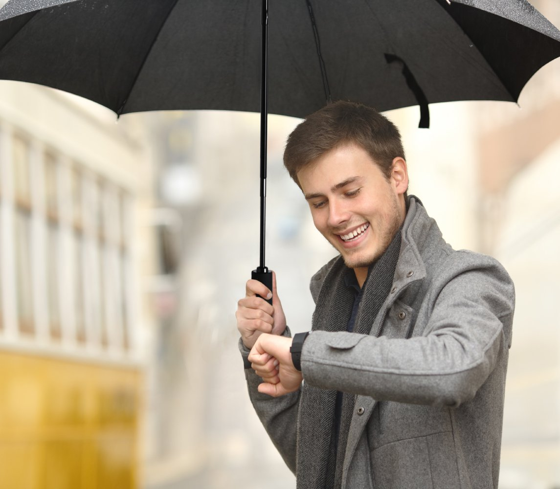 Plemo Classic Folding Umbrella for Business Travel Home, Auto Open Close Windproof, 210T Fabric Quick Dry, Black by Plemo (Image #7)