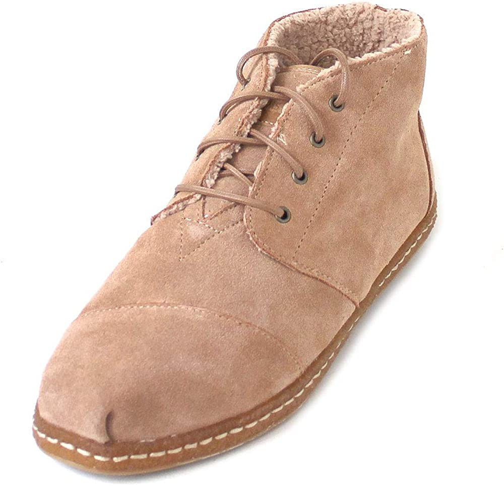 TOMS Bota Toffee Suede W/Faux Shearling