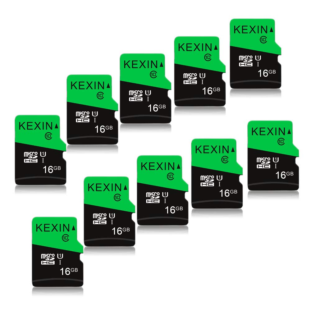 KEXIN 10 Pack 16 GB Micro SD Card TF Card Micro SDHC UHS-I Memory Cards Class 10 High Speed Micro SD Cards, C10, U1 by KEXIN