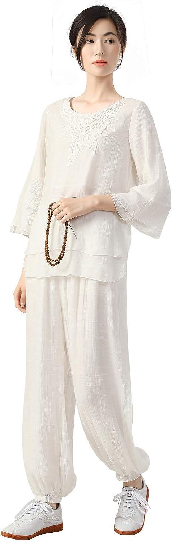 KSUA Womens Tai Chi Suit Clothes Kung Fu Clothing Cotton Martial Arts Uniform