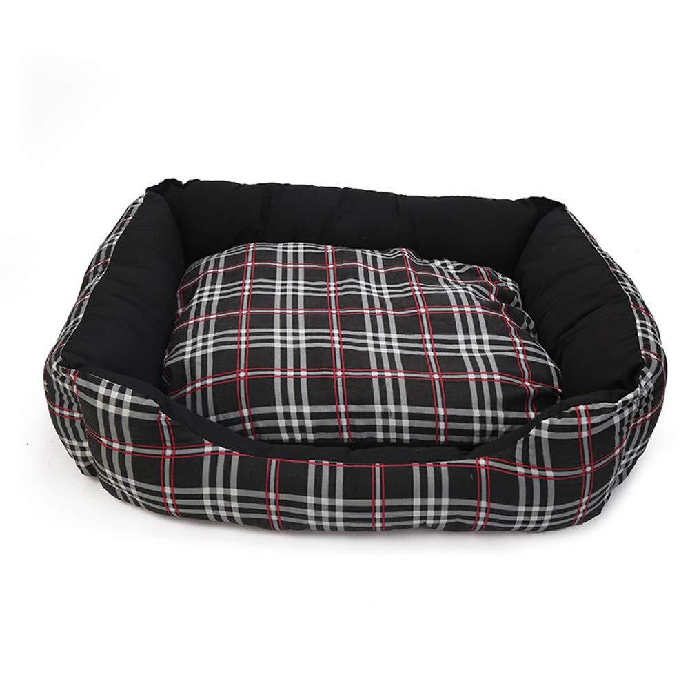 Black 5550cm Black 5550cm Pet Dog Bed, Comfortable Dog Bed cat Litter pad, Soft Breathable Pet Bed,Black,55  50cm