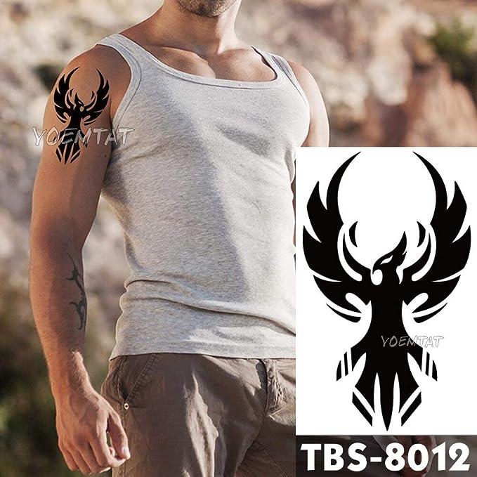 Impermeable Tatuaje Temporal de los Hombres Fuego Tatoo águila ...
