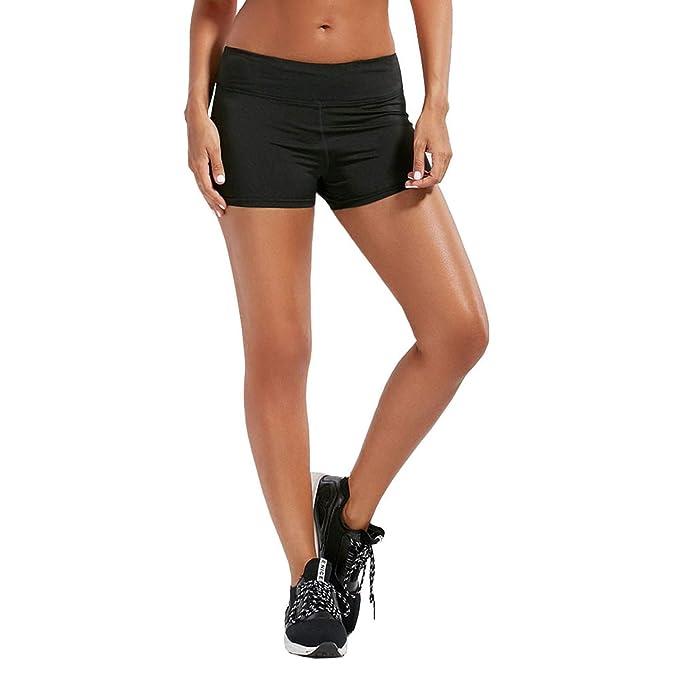 59d9f4a291 WhiFan Pantalón Leggins Corto Deportivo para Mujer