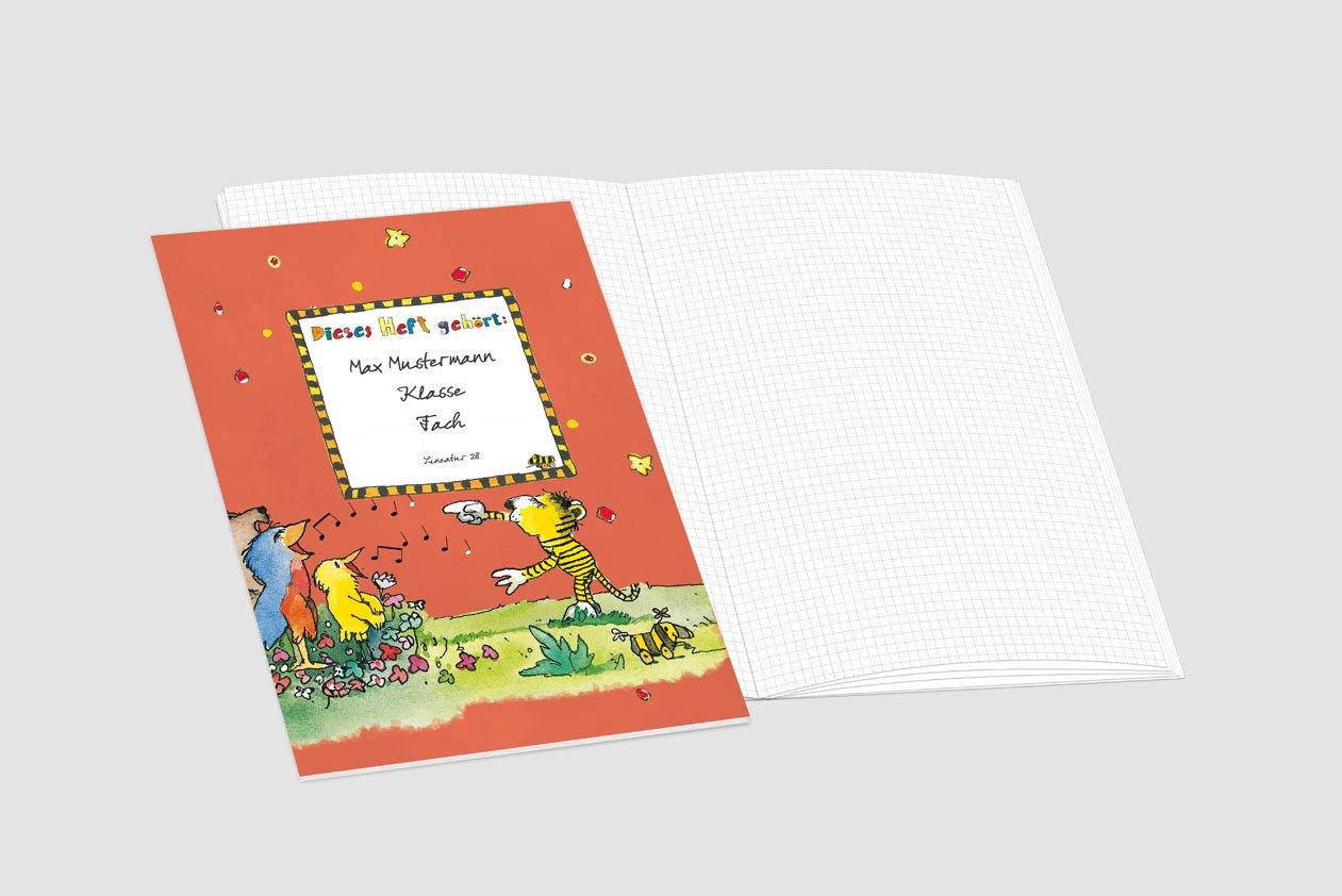 24 lustige JANOSCH-Schulhefte JANOSCH-Schulhefte JANOSCH-Schulhefte A4, »Fröhlicher Chor«,Lineatur 20, Pistaziengelb, personalisierbar, 32 Seiten B076V4Y2NQ | Sehen Sie die Welt aus der Perspektive des Kindes  240302